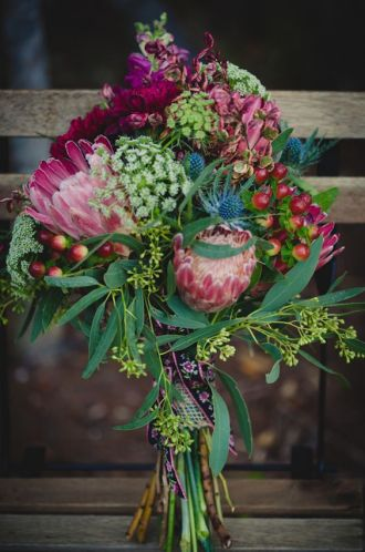 Natural and Exotic Bridal Bouquet