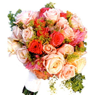 Pinky Peach Clutch, bridal bouquet
