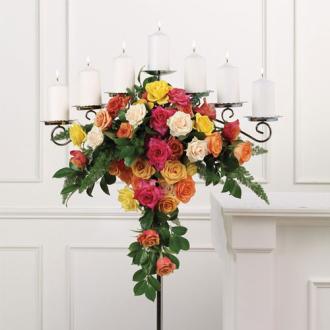 Rose Candelabra, wedding ceremony