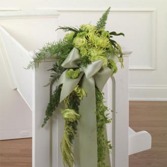 Green Pew Decoration, wedding ceremony