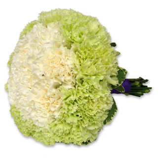 Green and White Carnation Bouquet, bridal bouquet