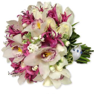 Stunning Orchids, lilies, bridal bouquet