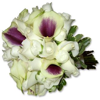 White Rose Picasso Bouquet, callas, ranunculus, bridal bouquet