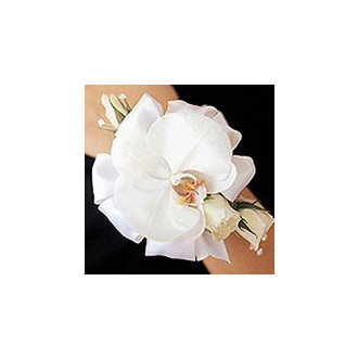 Phalaenopsis Orchid and Spray Rose Corsage, corsages & boutonnieres