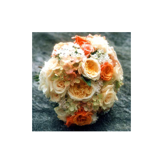 Pretty Peachy Clutch, bridal bouquet