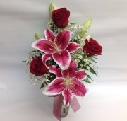 Roses and Lilies by Redmond Floral