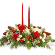 Wish You A Merry Christmas Centerpiece