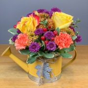 Fall Watering Can Bouquet