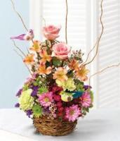 Springtime Birds Nest of Flowers