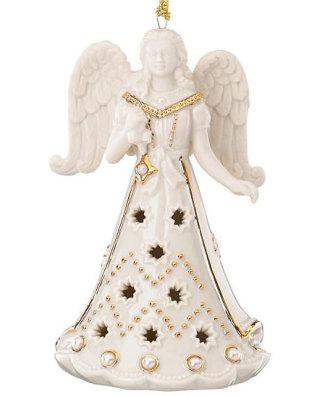 Lenox Florentine and Pearl Angel Ornament