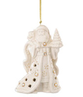 Lenox Florentine and Pearl Santa Ornament