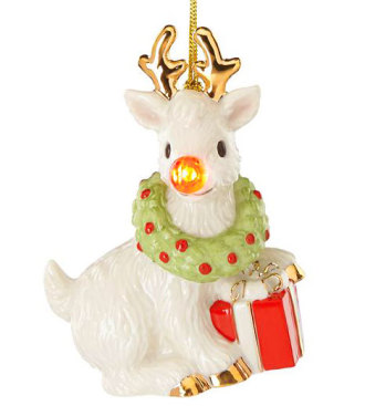 Lenox Blinking All The Way Reindeer Ornament