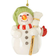 Lenox Blinking All The Way Snowman Ornament