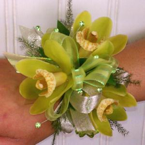 Lime Light Wrist Corsage