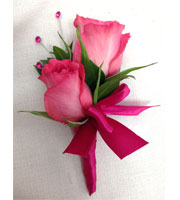 Pop Of Pink Boutonniere