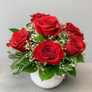 Radiant Red Half Dozen Roses
