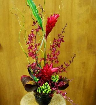 Regal Red Tropical Bouquet