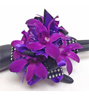 Royal Purple Corsage