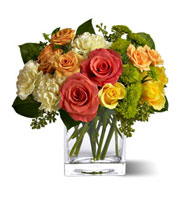Citrus Splash Rose Bouquet