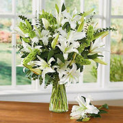 Lovely White Lily Bouquet