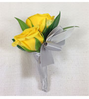 Yellow Gleam Boutonniere