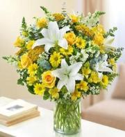 Yellow and White Elegance