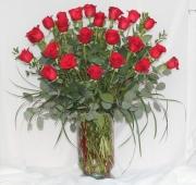 Two Dozen Premium Red Roses