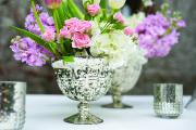 Silver Mercury Pedestal Bowl