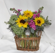 Wildflowers in Basket