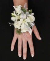 SPARKLY WHITE Prom Corsage