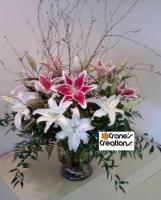 Crane's Creations Elegant Lily Bouquet