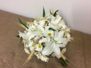 White lily, daisy bouquet