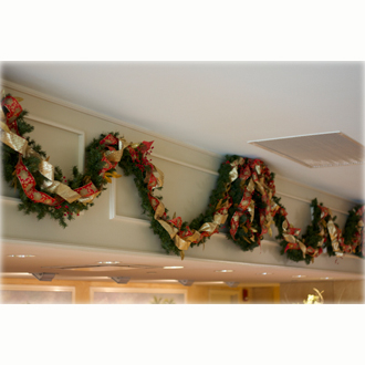 Wreath and Swags