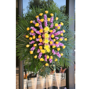 LA204 Yellow and Purple Memorial Spray