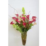 Elegant Calla Lilies in the vase