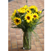 LA115 Sunflower Garden Vase