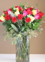 4 DZ Roses Mixed Colors