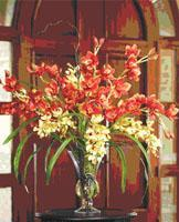 MIXED SILK CYMBIDIUM ORCHIDS