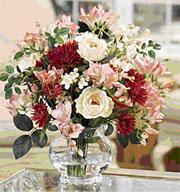 FREESIA & ROSE SILK CENTERPIECE