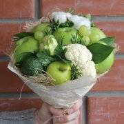 Vegetarian world bouquet.