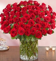 100 Red Rose Arrangement