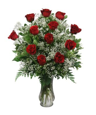 1 Dozen Radiant Rose Arrangement