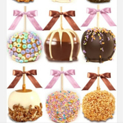 Chocolate Dipped Candy Apples 1/2 dozen