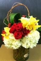 Roses Cymbidium & Hydrangea
