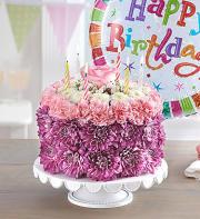 Birthday Wishes Flower cake and ballon Lavanders