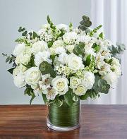 Cherished Memories All White arrangement