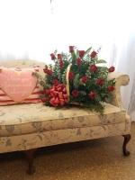 Fireside basket of Roses