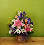 Pink Lily Basket