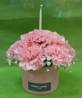 pink flower cup cake