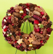 Christmas Wreath With Pine Corn